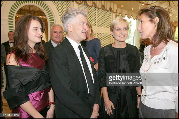 David Lynch and his wife Emily Stoffle Melita Toscan Du Plantier and Cecilia Sarkozy Lunch organized by Cartier in honor of David Lynch at the...