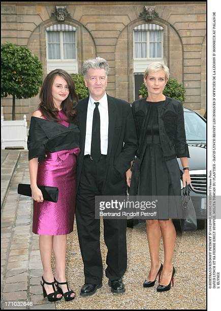 David Lynch and his wife Emily Stoffle Melita Toscan Du Plantier David Lynch is made Officer of the Legion of Honor at the Elysee palace