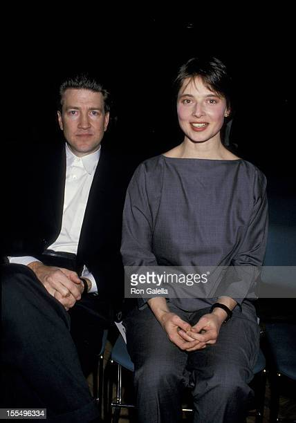David Lynch and Isabella Rossellini during Isabella Rossellini File Photos at Christie's in New York City New York United States
