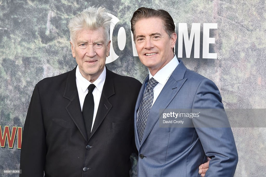 David Lynch and Kyle MacLachlan attend the World Premiere Of Showtime's 'Twin Peaks' - Arrivals at The Theatre at Ace Hotel on May 19, 2017 in Los Angeles, California.