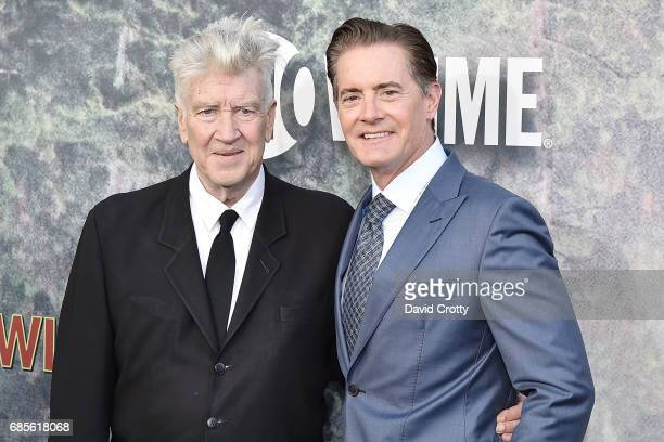 David Lynch and Kyle MacLachlan attend the World Premiere Of Showtime's 'Twin Peaks' Arrivals at The Theatre at Ace Hotel on May 19 2017 in Los...