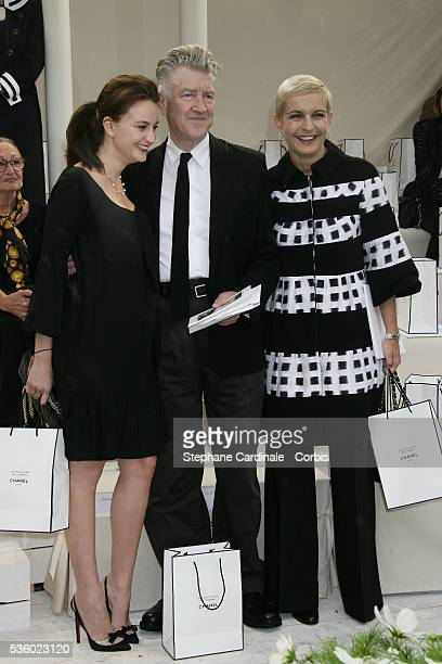 David Lynch and Melita Toscan Du Plantier at the Chanel Haute Couture FallWinter 2007/2008 collection fashion show in Paris