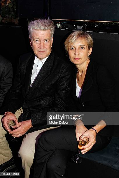 David Lynch and Melita Toscan Du Plantier attend the Karl Lagerfeld Exhibition Launch at Maison Europeenne de la Photographie on September 14 2010 in...