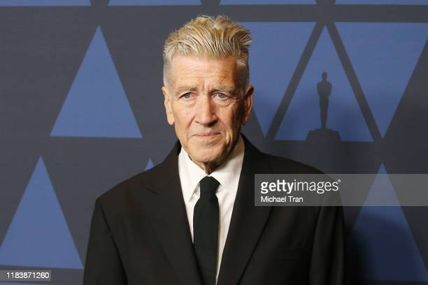 David Lynch arrives to the Academy of Motion Picture Arts and Sciences' 11th Annual Governors Awards held at The Ray Dolby Ballroom at Hollywood &...