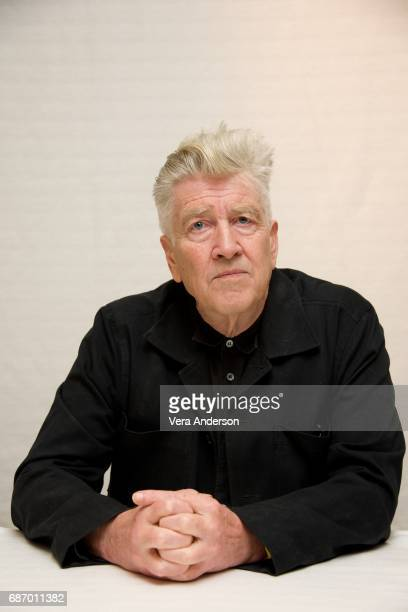 David Lynch at the Twin Peaks Press Conference at the Four Seasons Hotel on May 22 2017 in Beverly Hills California