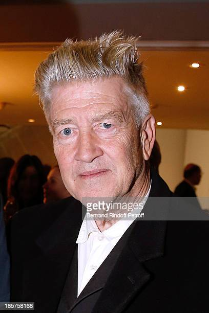 David Lynch attends the 'Ron Mueck' Exhibition Closing Night at 'Fondation Cartier pour L'Art Contemporain' on October 24 Paris France