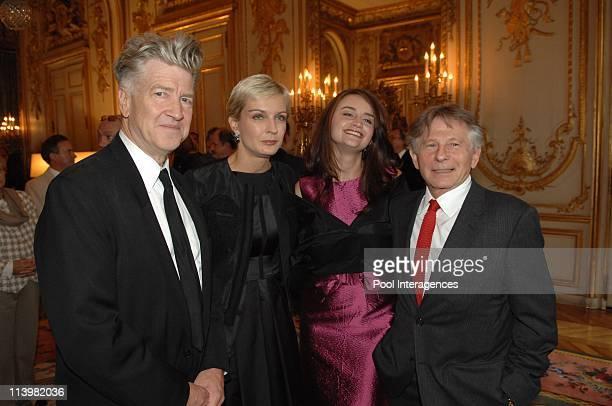 David Lynch honoured by Nicolas Sarkozy In Paris France On October 01 2007David Lynch Melita Toscan Du PlantierEmilie Stofle and Roman Polanski...