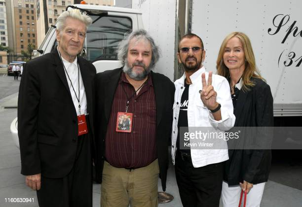 David Lynch Peter Jackson Ringo Starr and Barbara Bach attend the Ringo Starr 11th Annual Peace Love Birthday Worldwide Celebration at Capitol...