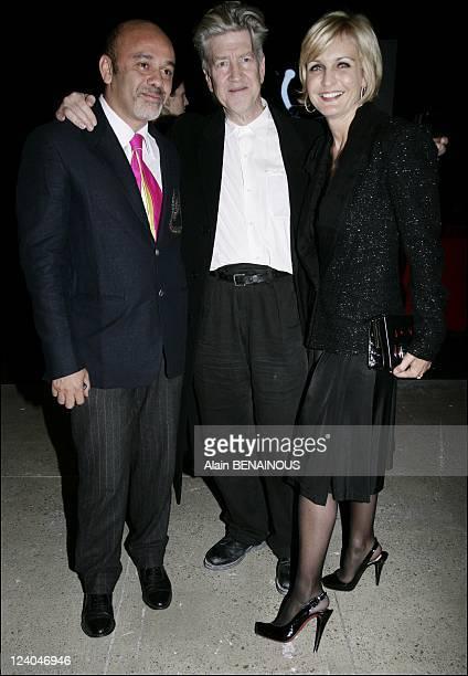 David Lynch private diner In Paris France On February 28 2007 Christian Louboutin David Lynch Melita Toscan du Plantier