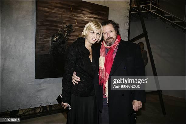 David Lynch private diner In Paris France On February 28 2007 Melita Toscan du Plantier Mr Julian Schnabel