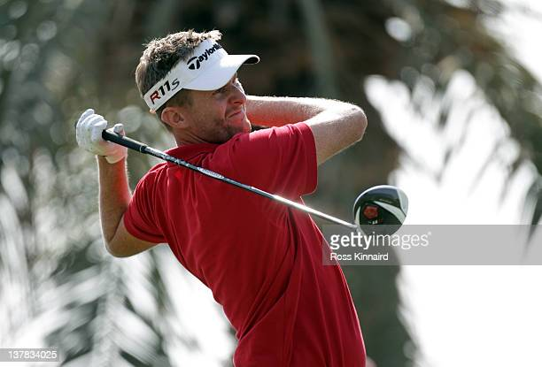 David Lynn of England during the third round of Abu Dhabi HSBC Golf Championship at the Abu Dhabi HSBC Golf Championship on January 28 2012 in Abu...