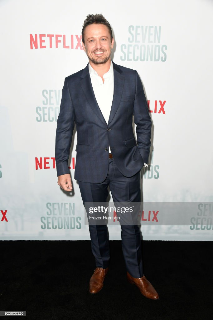 David Lyons attends the premiere of Netflix's 'Seven Seconds' at The Paley Center for Media on February 23, 2018 in Beverly Hills, California.