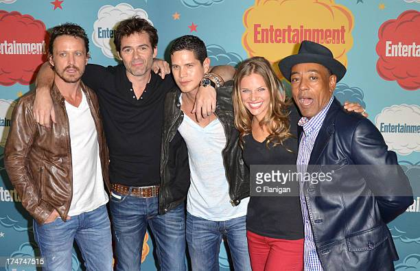 David Lyons Billy Burke JD Pardo Tracy Spiridakos and Giancarlo Esposito arrive at Entertainment Weekly's Annual ComicCon Celebration at Float at...