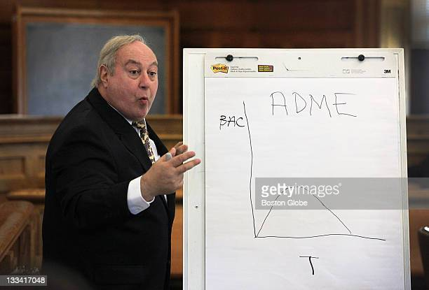 David M Benjamin an expert witness in clinical pharmacology and forensic toxicology drew this diagram and testifies for the defense in a vehicular...