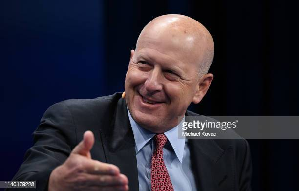 David M. Solomon, Chairman and CEO, Goldman Sachs, participates in a panel discussion during the annual Milken Institute Global Conference at The...