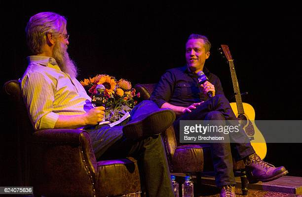 David Macias and musician Jason Isbell during the GRAMMY Up Close Personal with Jason Isbell and David Macias at Old Town School of Folk Music on...