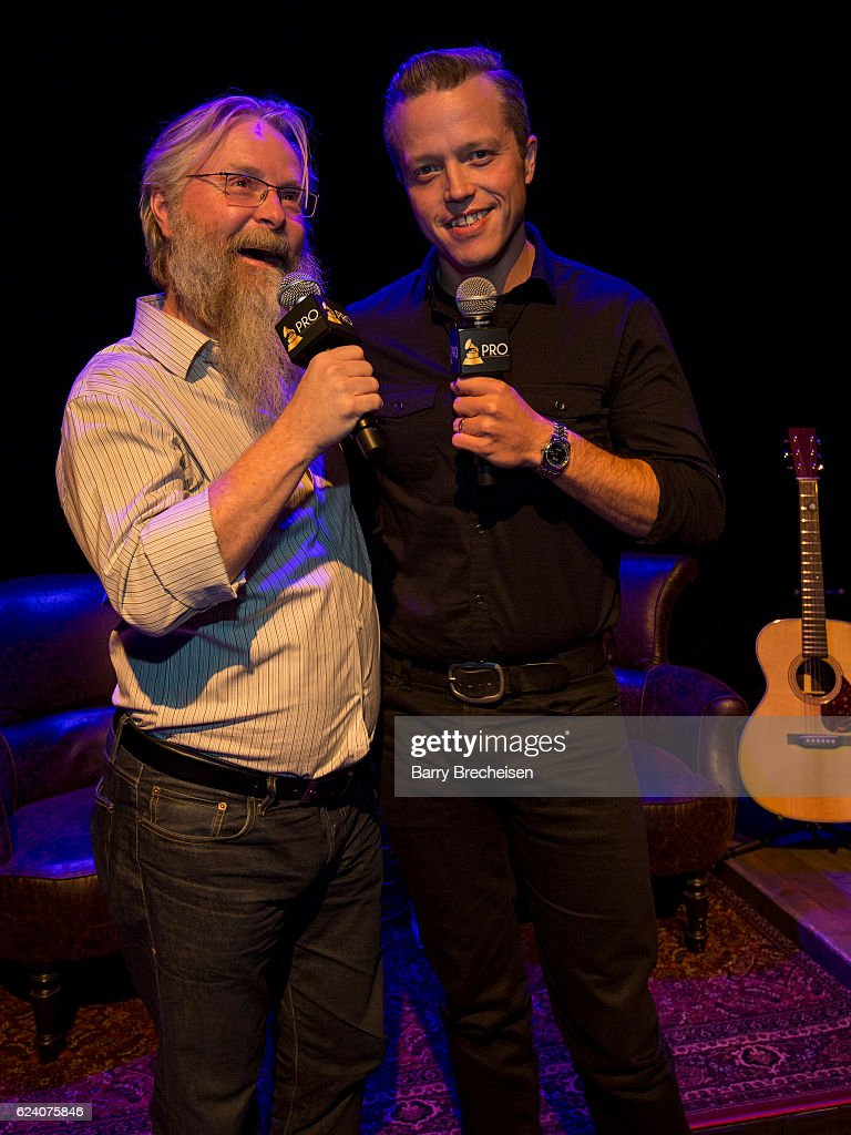 David Macias and musician Jason Isbell during the GRAMMY Up Close & Personal with Jason Isbell and David Macias at Old Town School of Folk Music on November 17, 2016 in Chicago, Illinois.