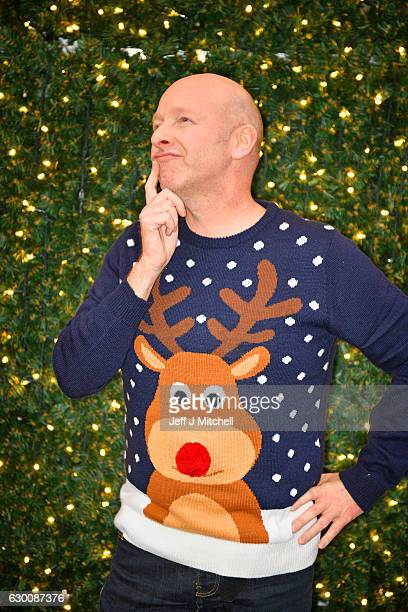 David MacKinnon wears a Christmas jumper while shopping in Buchanan Street on December 16 2016 in GlasgowScotland Christmas Jumper Day is now an...