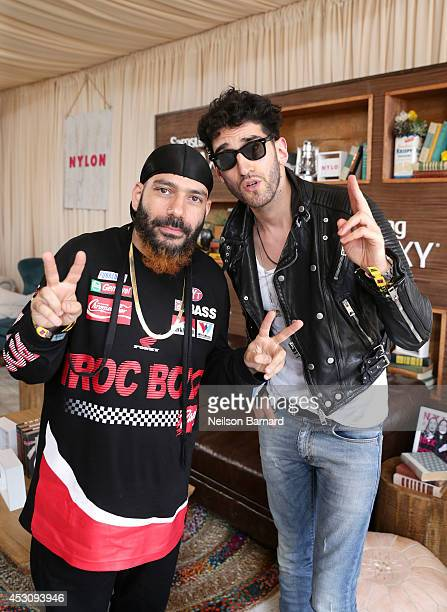 David Macklovitch and Patrick Gemayel of Chromeo at the Samsung Galaxy Artist Lounge at Lollapalooza at Grant Park on August 2 2014 in Chicago...