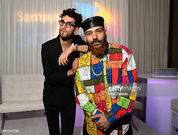 David Macklovitch and Patrick Gemayel of Chromeo attend Samsung Shape Summer Mix Series With Chromeo on June 25 2014 in New York City