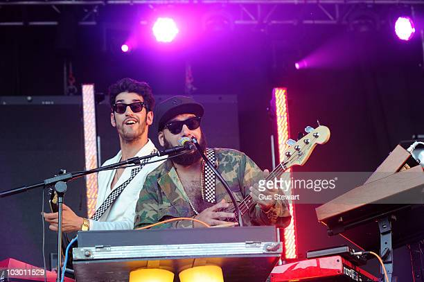 David Macklovitch and Patrick Gemayel of Chromeo headline the Gaymers stage during the third and final day of Lovebox at Victoria Park on July 18...