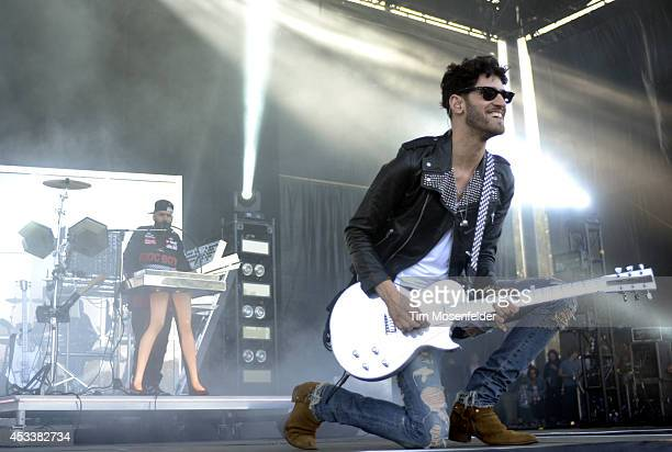 David Macklovitch and Patrick Gemayel of Chromeo perform during the Outside Lands Music and Arts Festival at Golden Gate Park on August 8 2014 in San...
