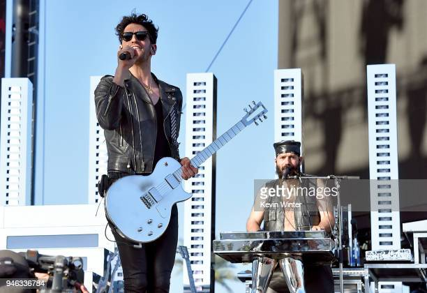 David Macklovitch and Patrick Gemayel of Chromeo perform onstage during 2018 Coachella Valley Music And Arts Festival Weekend 1 at the Empire Polo...