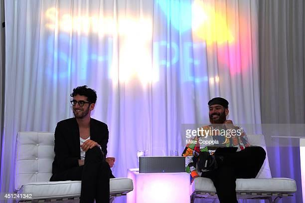 David Macklovitch and Patrick Gemayel of Chromeo speak at Samsung Shape Summer Mix Series With Chromeo on June 25 2014 in New York City