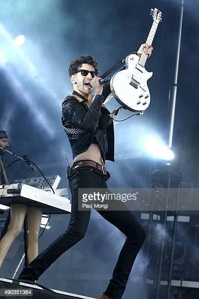 David Macklovitch of Chromeo performs at the 2015 Landmark Music Festival at West Potomac Park on September 27 2015 in Washington DC