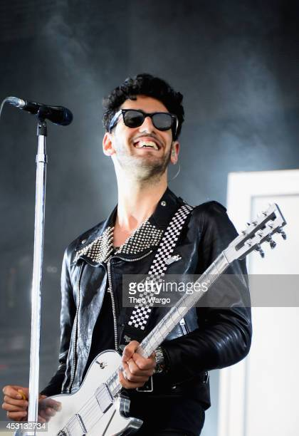 David Macklovitch of Chromeo performs at the Bud Light stage during 2014 Lollapalooza Day Three at Grant Park on August 3 2014 in Chicago Illinois