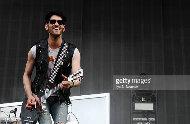 David Macklovitch of Chromeo performs during day 1 of the 2015 Governors Ball Music Festival at Randall's Island on June 5 2015 in New York City