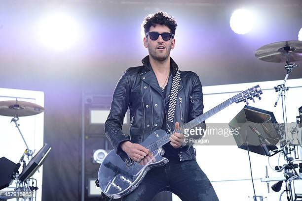 David Macklovitch of Chromeo performs during the 2014 Austin City Limits Music Festival at Zilker Park on October 12 2014 in Austin Texas