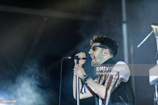 David Macklovitch of Chromeo performs on day one of the Osheaga music festival on August 1 2014 in Montreal Canada
