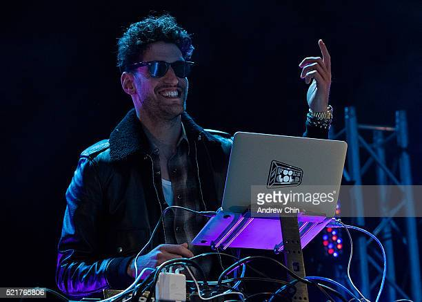 David Macklovitch of Chromeo performs onstage during The World Ski And Snowboard Festival on April 16 2016 in Whistler Canada