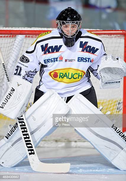 David Madlener during a test game in Schwenningen Germany