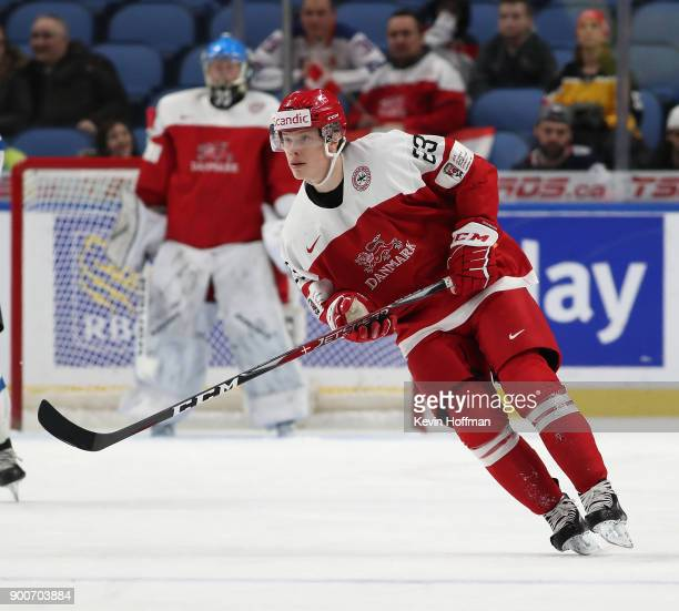 David Madsen of Denmark during the IIHF World Junior Championship against Finland at KeyBank Center on December 28 2017 in Buffalo New York