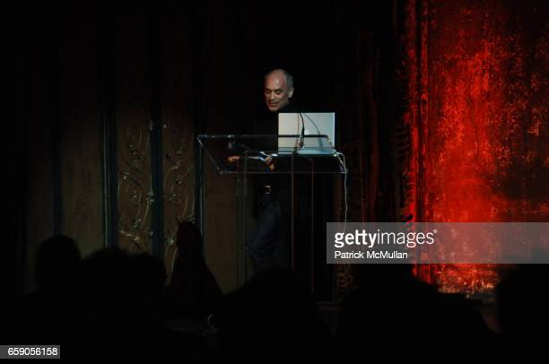 """David Maisel attends The New York Institute for the Humanities at NYU presents """"LIBRARY OF DUST"""" by DAVID MAISEL at The Angel Orensanz Foundation on..."""