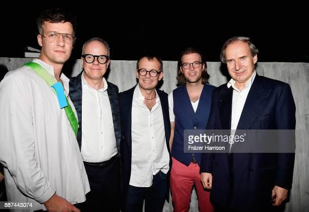 David Mallon Hans Ulrich Obrist Mikolaj Sekutwicz Magnus Resch and Simon de Pury attend MCM x KOENIG SOUVENIR At Art Basel Miami Beach at Sun Path...