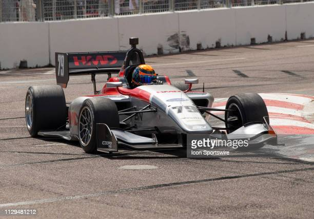 David Malukas during the Indy Lights Race of St Petersburg on March 9 at the Streets of St Petersburg in St Petersburg FL