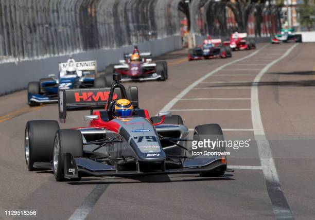David Malukas during the Start of the Indy Lights Streets of St Petersburg on March 9 in St Petersburg FL