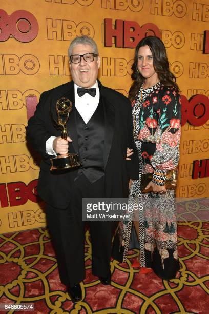 David Mandel and Dr Rebecca Whitney attend HBO's Post Emmy Awards Reception at The Plaza at the Pacific Design Center on September 17 2017 in Los...
