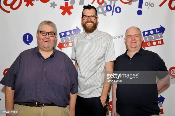 David Mandel Timothy Simons and Frank Rich at Politicon at Pasadena Convention Center on July 30 2017 in Pasadena California