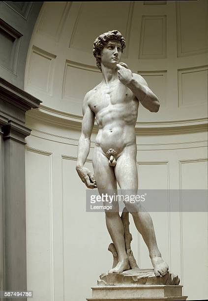 David Marble statue by Michelangelo 1504 Galleria dell'Accademia Florence Italy