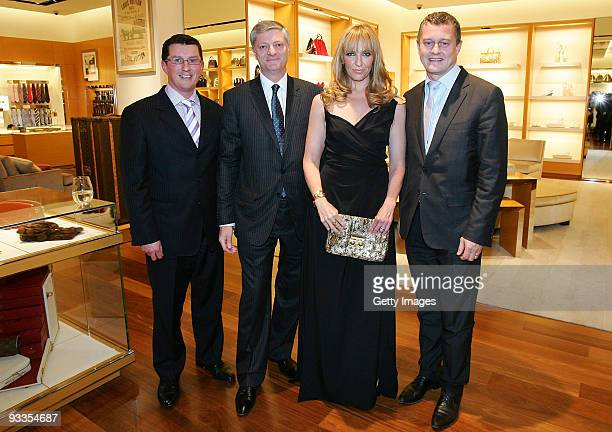 David Marcun Philip Corne Toni Collette and JeanBaptiste Debains attend the opening of the new Louis Vuitton store at Chadstone Shopping Centre on...