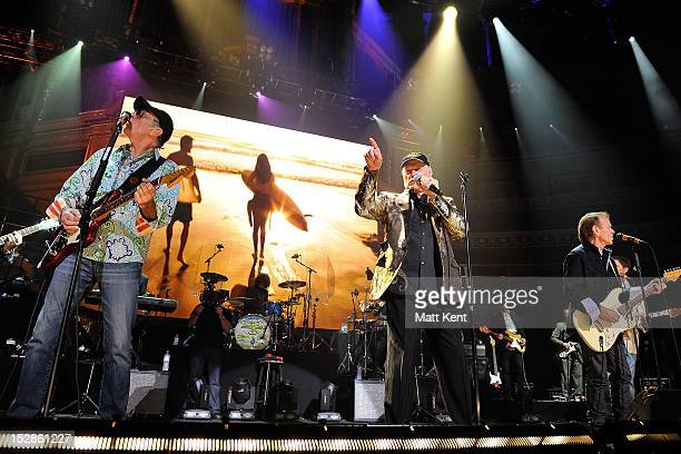 David Marks mike Love and Al Jardine of The Beach Boys perform at the Royal Albert Hall on September 27 2012 in London England