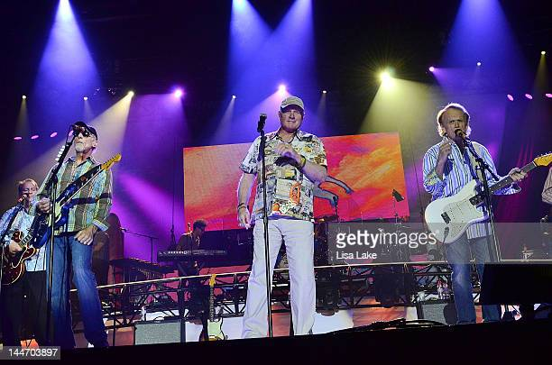 David Marks Mike Love and Al Jardine of the Beach Boys perform live in concert during The Beach Boys 50th Anniversary Reunion Tour at Sands Bethlehem...