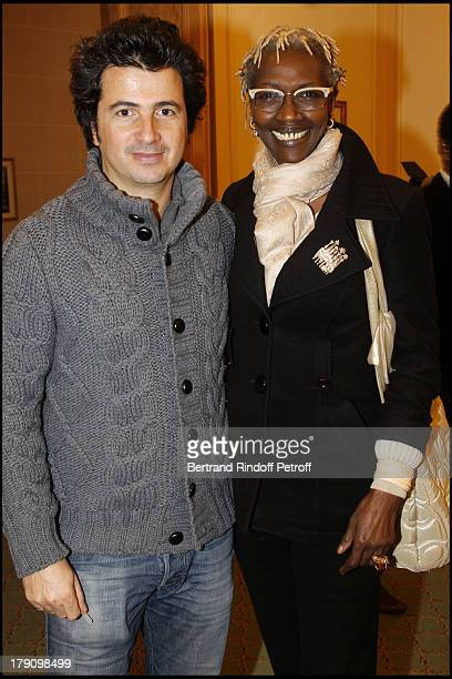 David Marouani and Princesse Esther Kamatari at The Galette Des Rois Charity Function At Bristol In Paris Organised By Cira To Benefit Children Of...
