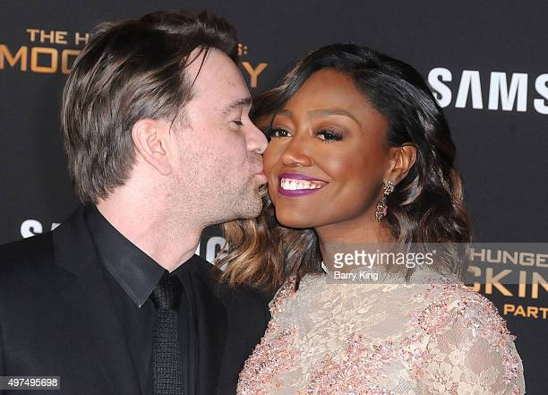 David Mars and actress Patina Miller attend Premiere Of Lionsgate's 'The Hunger Games Mockingjay Part 2' at Microsoft Theater on November 16 2015 in...