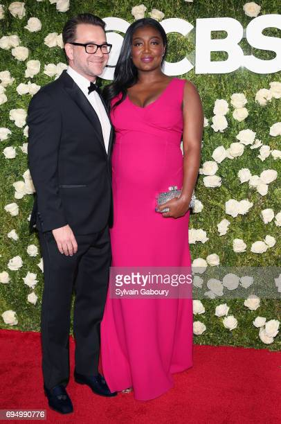 David Mars and actress Patina Miller attend the 2017 Tony Awards at Radio City Music Hall on June 11 2017 in New York City