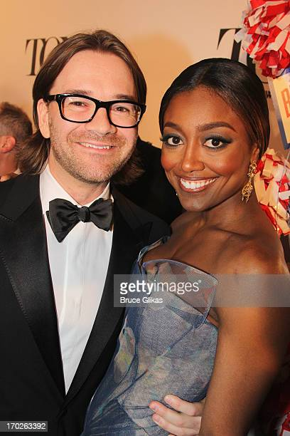 David Mars and actress Patina Miller attend The 67th Annual Tony Awards at Radio City Music Hall on June 9 2013 in New York City